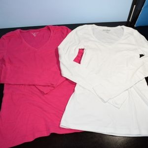 2 Old Navy Long Sleeve V-Neck Small T-Shirts